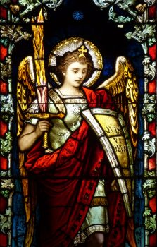St. Michael in stained glass