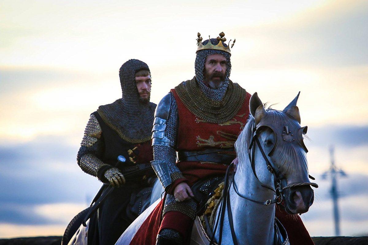 English king and prince on horses