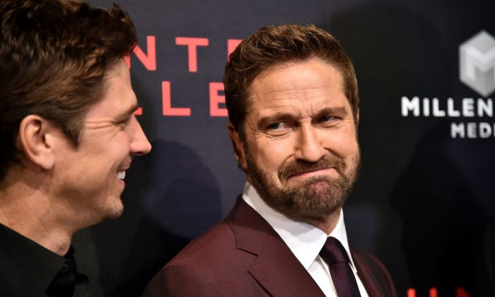 "Gerard Butler attends the ""Hunter Killer"" World Premiere at Intrepid Sea-Air-Space Museum on Oct. 22, 2018 in New York City.  (Theo Wargo/Getty Images)"