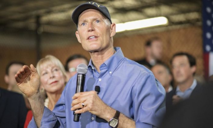 Florida Republican Gov. Rick Scott is filing three more lawsuits against county election officials as the recounting of votes in Florida gets underway for three contests from the midterm elections, a statement on Nov. 11, 2018 said. (rickscottforflorida.com)