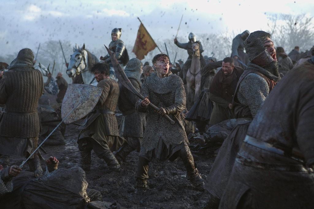 Scotsmen battle in the mud