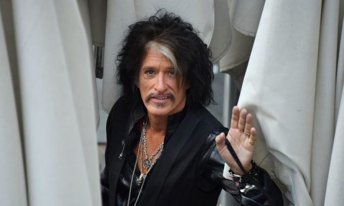 Joe Perry of Aerosmith at Rockefeller Center in New York City, on Aug. 15, 2018. (Angela Weiss/AFP/Getty Images)