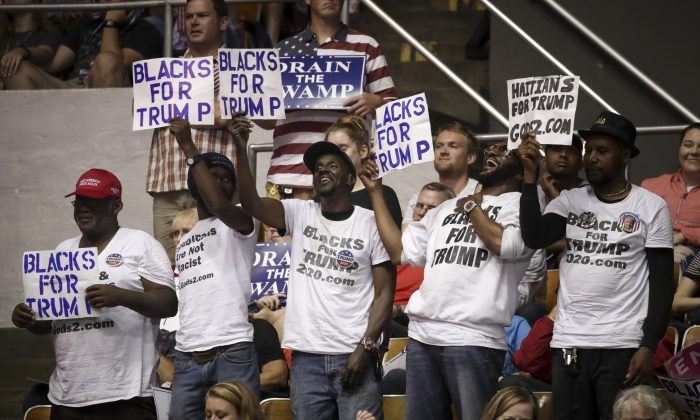 Supporters cheer as U.S. President Donald Trump speaks during a rally at the Nashville Municipal Auditorium in Nashville, Tenn., on May 29, 2018. (Drew Angerer/Getty Images)