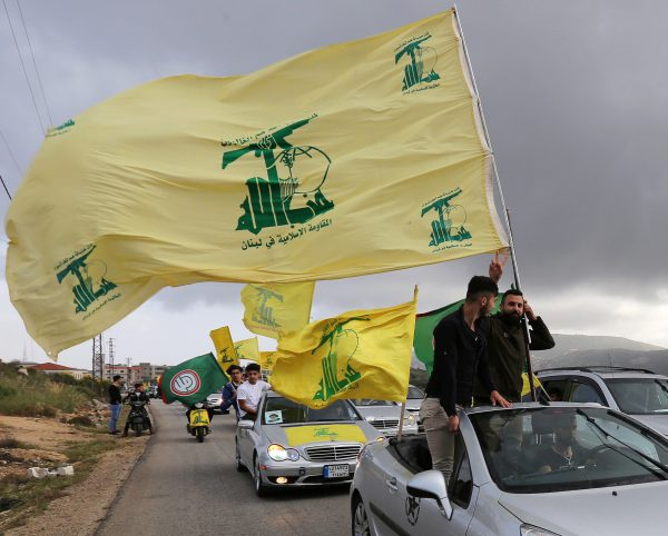A supporter of Lebanons Hezbollah