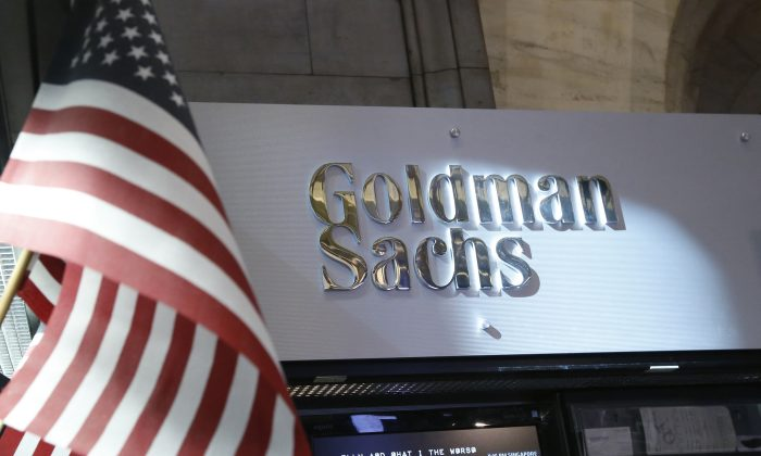 A view of the Goldman Sachs stall on the floor of the New York Stock Exchange on July 16, 2013. (Brendan McDermid/Reuters)