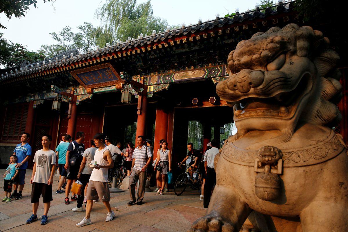 CHINA EDUCATION PEKING activists 1200x800.