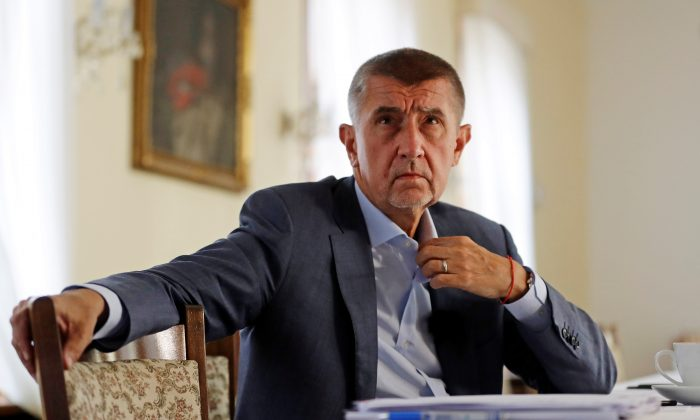 Czech Prime Minister Andrej Babis at the Hrzan's Palace in Prague, Czech Republic, on July 31, 2018. (David W Cerny/Reuters)