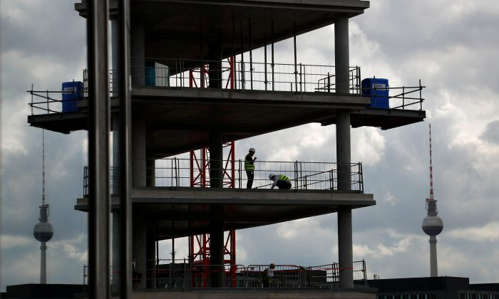 A construction site is pictured near the Hauptbahnhof main train station in Berlin, Germany, on July 11, 2018. (Fabrizio Bensch/Reuters)