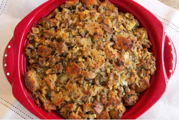 Italian Sausage Stuffing with arborio rice from Donatella Arpaia
