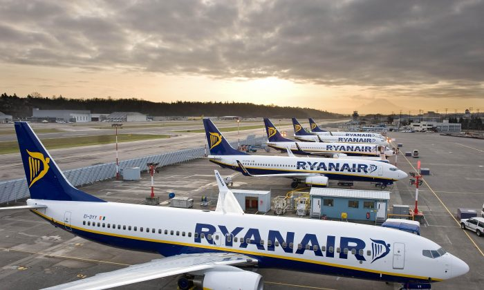Ryanair's first-half profit fell even though passenger numbers and revenue jumped. (Courtesy Ryanair)