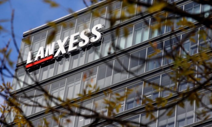 The headquarters of chemicals maker Lanxess are seen in Cologne, Germany on Nov. 15, 2018. (Wolfgang Rattay/Reuters)
