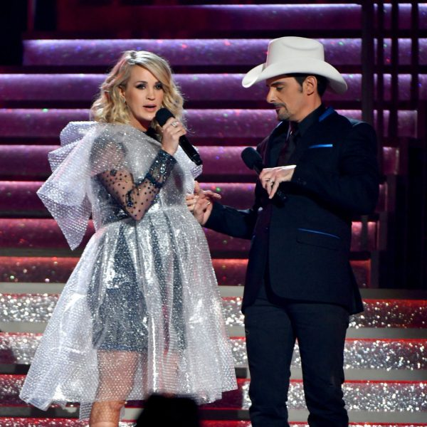 Brad Paisley and Carrie Underwood onstage