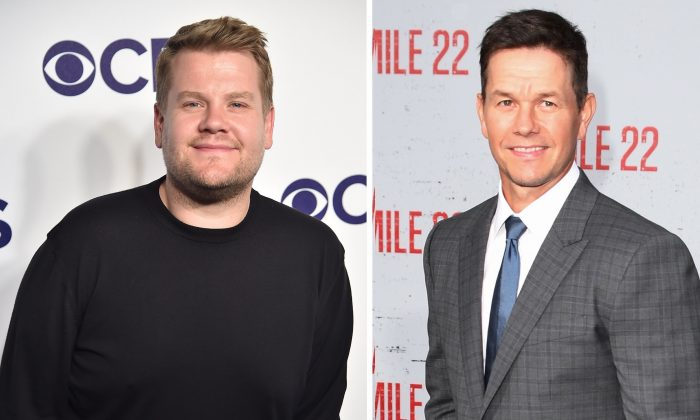 (L) Television host James Corden and actor Mark Wahlberg. (Theo Wargo/Getty Images), (Mark Ralston/AFP/Getty Images)