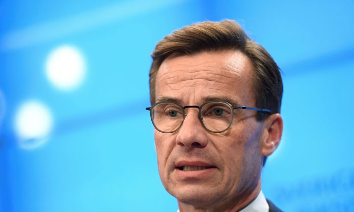 Swedish Moderate party leader Ulf Kristersson in Stockholm, Sweden, on Sept. 27, 2018. (TT News Agency/Pontus Lundahl via Reuters)