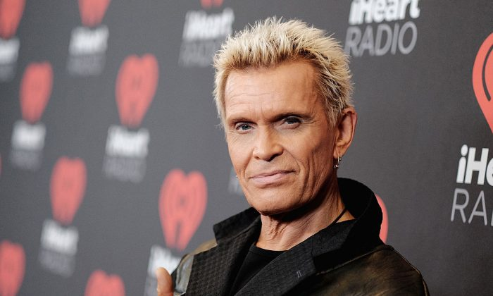 File photo showing musician Billy Idol attending the 2016 iHeartRadio Music Festival at T-Mobile Arena in Las Vegas, Nevada, on Sept. 23, 2016. (Mike Windle/Getty Images for iHeartMedia)
