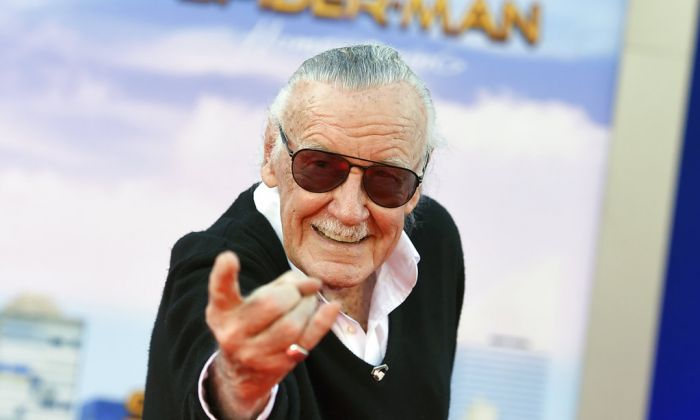 """Stan Lee arrives at the Los Angeles premiere of """"Spider-Man: Homecoming,""""on June 28, 2017. (Jordan Strauss/Invision/AP File)"""