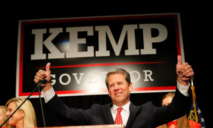 Brian Kemp attends the Election Night event at the Classic Center in Athens, Georgia on Nov. 6, 2018. (Kevin C. Cox/Getty Images)