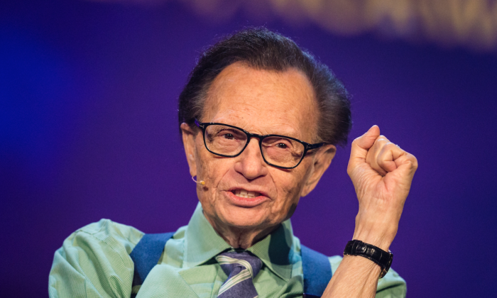 Larry King participates in a discussion during the Starmus Festival in Trondheim, Norway, on June 21, 2017. (Michael Campanella/Getty Images)