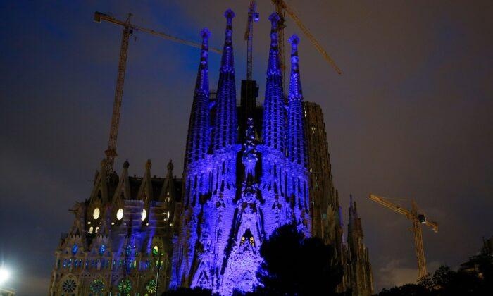 The Sagrada Familia in Barcelona on April 2, 2018. (Pau Barrena/AFP via Getty Images)