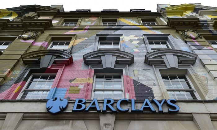 A branch of Barclays bank is seen in central London in this photograph dated on Oct. 22, 2014.  (Toby Melville/Reuters)