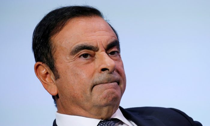 Carlos Ghosn, chairman and CEO of the Renault-Nissan-Mitsubishi Alliance, attends the Tomorrow In Motion event on the eve of press day at the Paris Auto Show, in Paris, France, on Oct. 1, 2018. (Regis Duvignau/Reuters)
