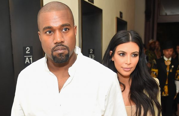 Kanye West and Kim Kardashian-West attend the Rihanna Party