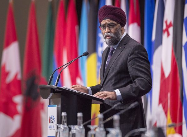 Sajjan talks about NATO's plenary session