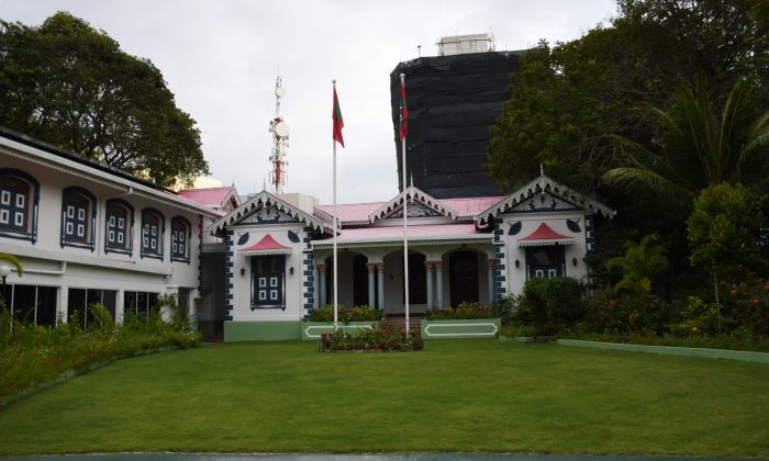 A general view of the Mulee-aage, the official residence of the President of the Maldives, in Male on Feb. 7, 2018. (STR/AFP/Getty Images)