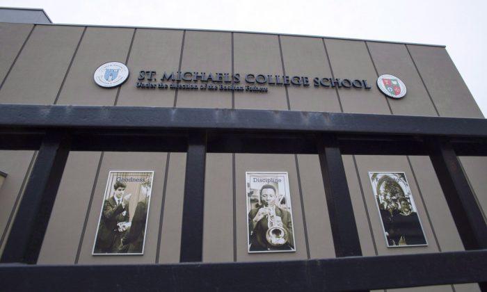 St. Michael's College School is shown in Toronto on Nov. 15, 2018. (The Canadian Press/Frank Gunn)