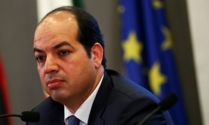 Libyan Deputy Prime Minister Ahmed Maiteeg listens to reporter question during a news conference with Italian Interior Minister Matteo Salvini in Rome, Italy July 5, 2018. (Tony Gentile/Reuters)