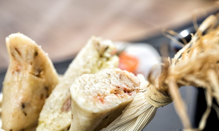 Leftover turkey gets a second life as spicy tamale filling. (Courtesy of Hilton Chicago)