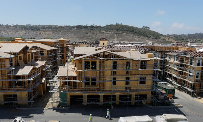 Development and construction continues on a large scale housing project of over 600 homes in Oceanside, California, on June 25, 2018. (Mike Blake/Reuters)