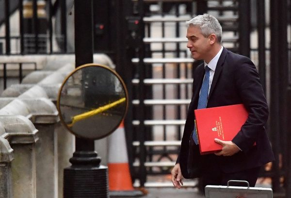 Britain's Secretary of State for Exiting the European Union Stephen Barclay arrives in Downing Street