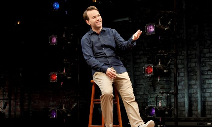 "Mike Birbiglia in his one-man show ""Mike Birbiglia's the New One."" (Joan Marcus)"