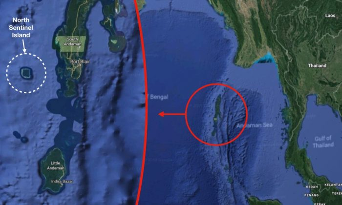 An American man was reportedly killed while making an unauthorized visit to North Sentinel Island, known for a hostile indigenous population. (Google Maps)