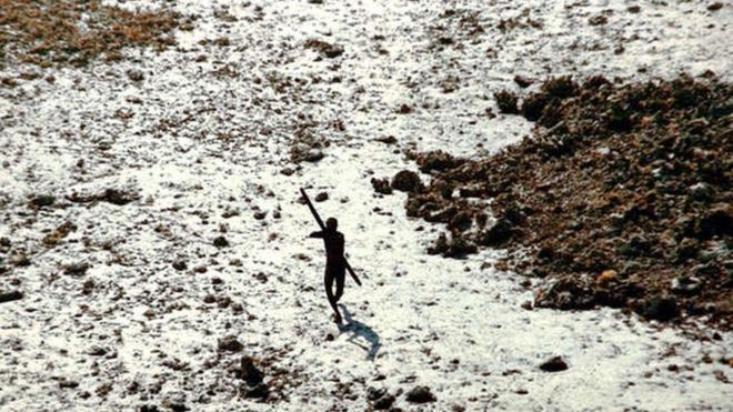 Members of the Sentinelese tribe have long resisted contact with foreigners, and are believed to number between only about 50 and 150. (Indian Coast Guard)