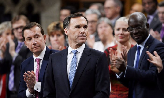 Finance Minister Bill Morneau delivers the fall economic update in the House of Commons in Ottawa on Nov. 21, 2018. (The Canadian Press/Adrian Wyld)