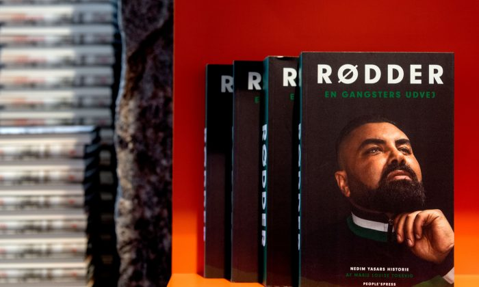 """Roots: A Gangster's Way Out,"" the book about Nedim Yasar, in a bookstore in Copenhagen on Nov. 20, 2018. (Bax Lindhardt/AFP/Getty Images)"