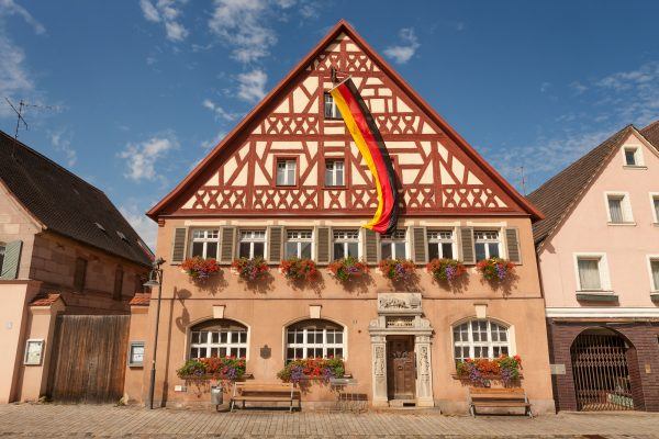 A townhouse from the mid 17th century in Roth, Germany in this file photo.