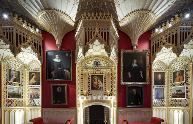 Bottom right of fireplace, the portrait of the second Baron of Sheffield, in the Gallery. (Kilian O'Sullivan)