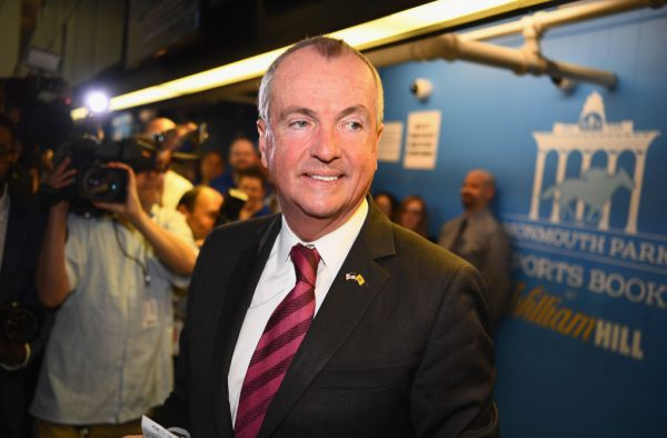The governor of New Jersey, Phil Murphy places the first bet.