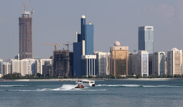 The Abu Dhabi skyline