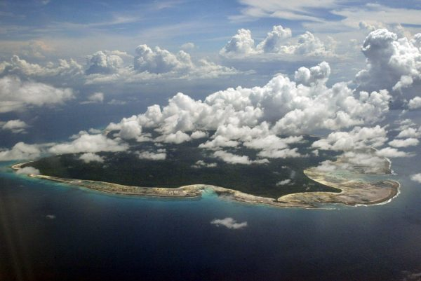 Cloud over North Sentinel Island