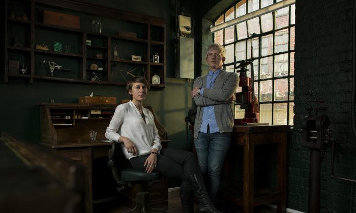 """The Struthers work on each project together, and together make """"one very, very good watchmaker."""" (Andy Pilsbury)"""