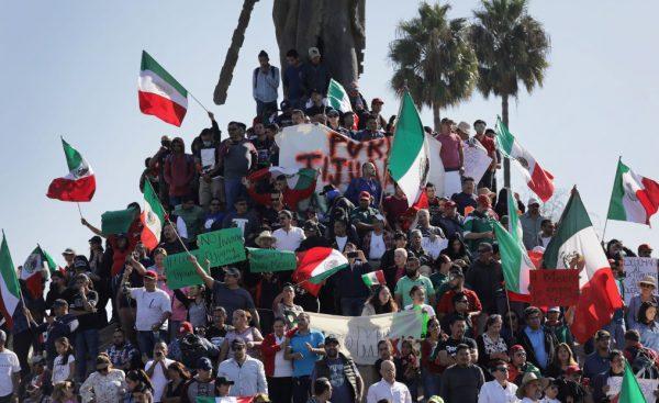 Anti-Immigrant Activists Rally At US-Mexico Border