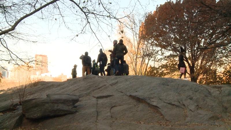 New York City Park Ranger guiding a hike.