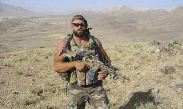Christopher Schott was in the northern Kandahar Province in Afghanistan in 2007. (Courtesy of Christopher Schott via AP)