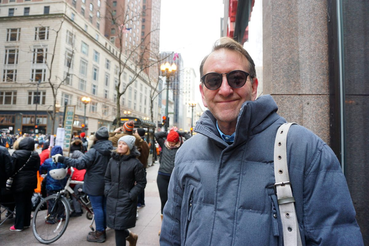 Al Lewand attends Thanksgiving Day parade in Chicago