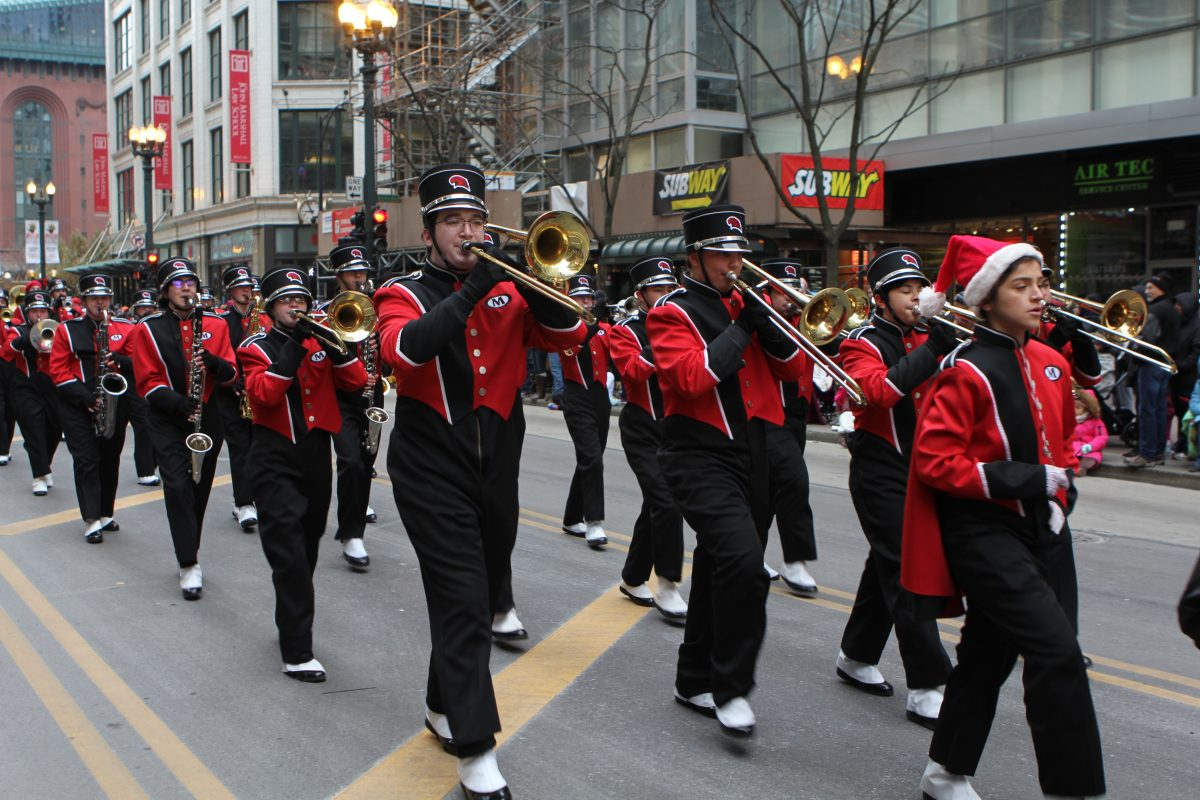 Marching Band in Thanksgiving Parade