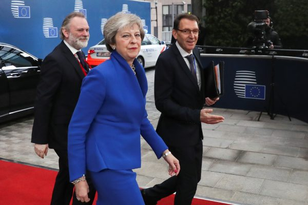 Prime Minister Theresa May in Brussels for Brexit deal.